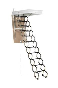 Металлическая раздвижная чердачная лестница OMAN Ножничная