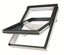 Пластиковое окно FAKRO со среднеповоротным открыванием PTP-V U3 ПВХ с вентклапаном