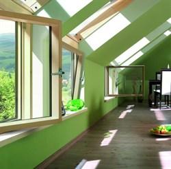 Карнизные окна FAKRO BDR L3 ПРОФИ с комбинированной системой открывания ручка справа