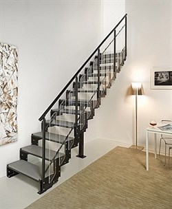 Маршевая интерьерная модульная лестница DOMINO BRIGHT - фото 8763