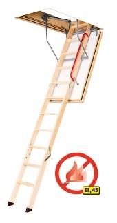 Огнестойкая энергосберегающая чердачная лестница FAKRO LWF 45
