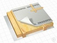 Армированная гидроизоляционная плёнка с микроперфорацией DRAGOFOL