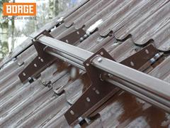 Снегозадержатель трубчатый BORGE для металлочерепицы