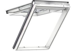 Мансардное окно VELUX PREMIUM / Премиум Панорама GPU 0070  дерево + белое полиуретановое покрытие с комбинированной системой открывания