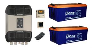 Резервная система электроснабжения на базе ББП Xtender 2,4 кВа + 2 АКБ по 230 А*час