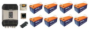 Резервная система электроснабжения на базе ББП Xtender 2,6 кВа + 8 АКБ по 200 А*час