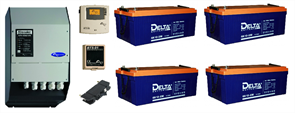 Резервная система электроснабжения на базе ББП Xtender 8 кВа + 4 АКБ по 230 А*час