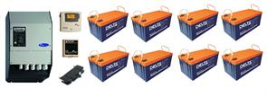 Резервная система электроснабжения на базе ББП Xtender 6 кВа + 8 АКБ по 200 А*час