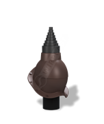 Антенный выход D 19 - 90 мм с проходным элементом для металлочерепицы