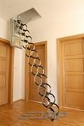 Противопожарная металлическая раздвижная чердачная лестница OMAN Ножничная PP огнестойкость 60 минут