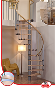 MINKA Wave Plus Винтовая лестница ступени из бука