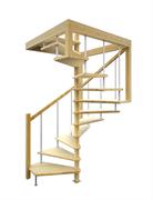 Деревянная межэтажная лестница ЛЕС-10