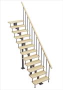Модульная лестница Стандарт, серия «Классик» (прямой марш) высота шага 225 мм