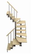 Модульная лестница Спринт, серия «Классик» (c поворотом на 180 градусов) высота шага 225 мм