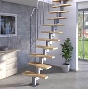 Модульная лестница DOLLE ATHENA Серебро Бук мультиплекс