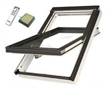 """Мансардное окно FAKRO PTP-V U3 (электропривод, дистанционное управление, система """"Умный дом"""") ПВХ с вентиляционным клапаном"""